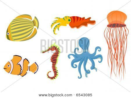 Funny Sea Animals  Icons