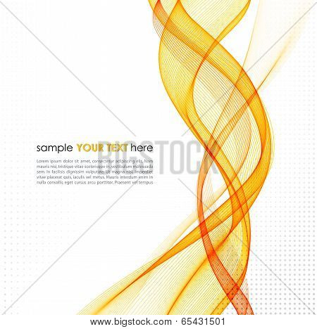 Abstract orange line vector background