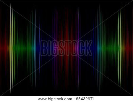 Abstract  Multicolored Sound Equalizer Display As Background.