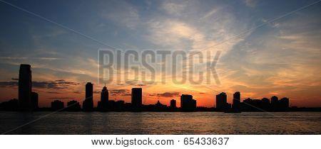 Panoramic Silhouette Skyline