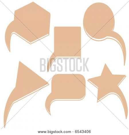 Abstract Brown Text Bubbles