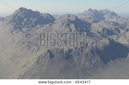 Computer Generated Alpine Landscape