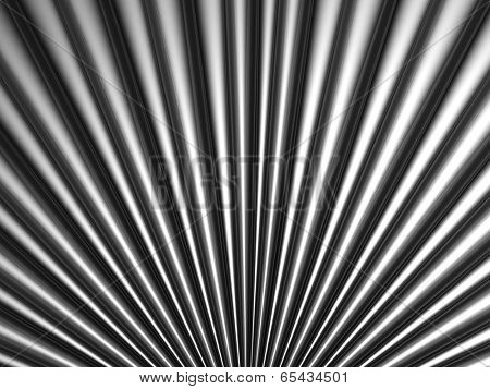Silver tube metal background 3d illustration