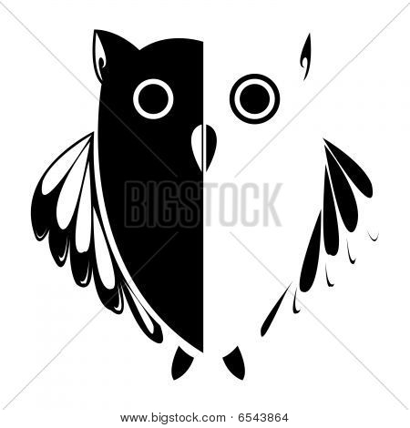 Vector Stylized Owl