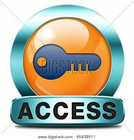 access key icon password protected restricted area members only