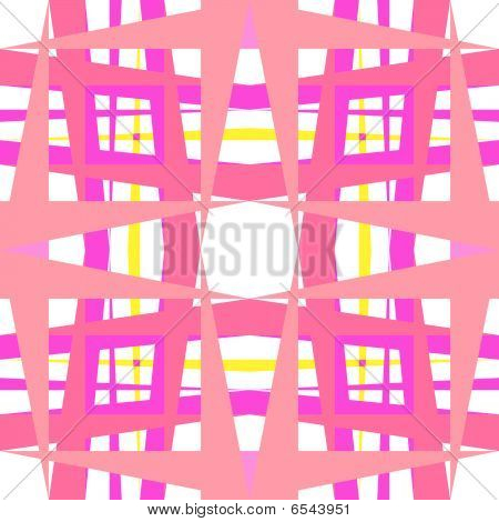 Abstract Geometric Pink Shapes