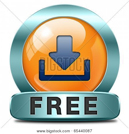 free download music, video movie or data downloading pdf document file button or icon
