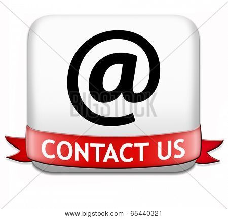 contact us button for feedback icon. Coordinates and address for customer support and extra information