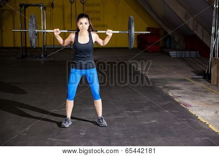 Lifting Weights In A Gym