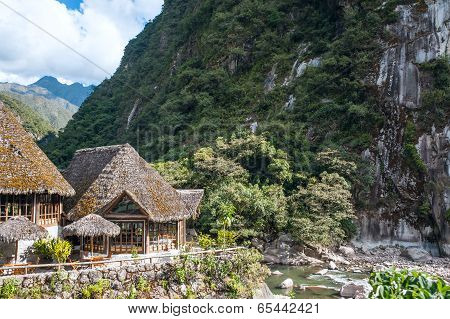 Aguas Calientes, The Town And Railway Station At The Foot Of The Sacred Machu Picchu Mountain, Peru