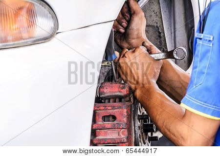 Replacing Brakes Vehicle