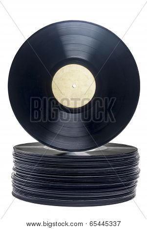 Stack Of Retro Vinyl Long Play Records