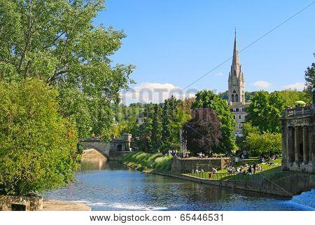 Pastoral scene in Salisbury, England