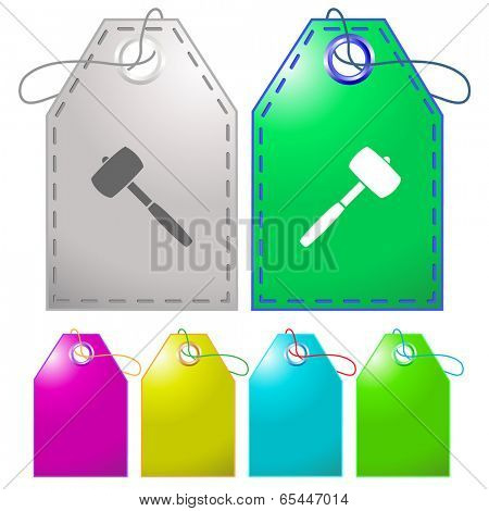 Mallet. Vector tags.