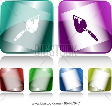 Trowel. Internet buttons. Vector illustration.