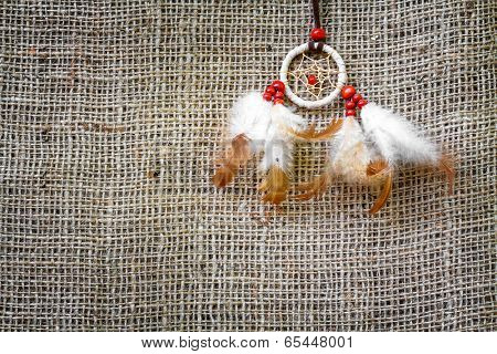 Abstract background of sacking and Dreamcatcher