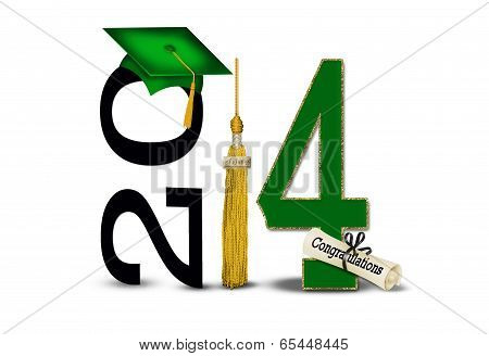 green and gold 2014 graduation
