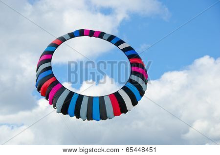 circular striped kite