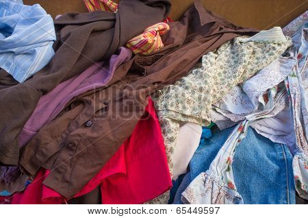 Pile Of Second Hand Clothes
