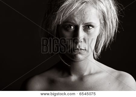 Upset Blonde Woman