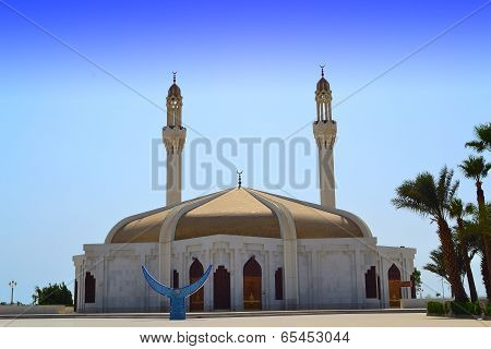 Mosque in jeddah close up