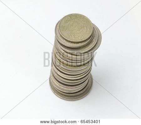 Saudi Coins Currency tower