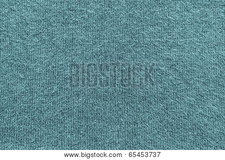 Texture Of Fleecy Knitted Fabric Blue Indigo Color
