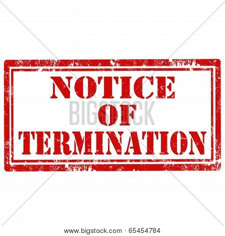 Notice Of Termination-stamp