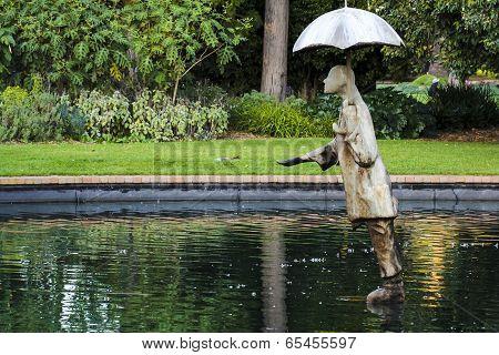 Rain Man Statue In St Kilda Botanical Gardens