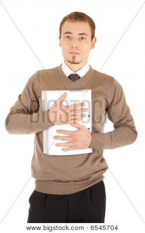 Young Well-dressed Man With Documents