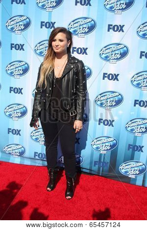 LOS ANGELES - MAY 21:  Demi Lovato at the American Idol Season 13 Finale at Nokia Theater at LA Live on May 21, 2014 in Los Angeles, CA