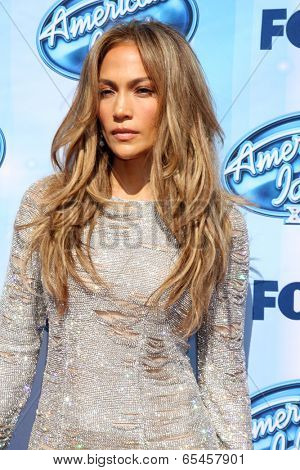LOS ANGELES - MAY 21:  Jennifer Lopez at the American Idol Season 13 Finale at Nokia Theater at LA Live on May 21, 2014 in Los Angeles, CA