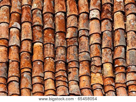 Old Shingles A The Roof