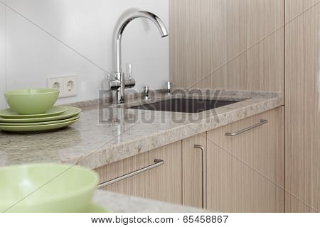 Water Tap In Modern Interior
