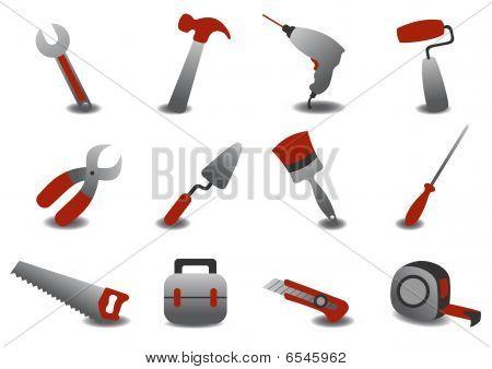 Professional Repairing Tools Icons