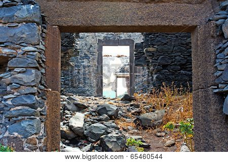 The Walls Ruins Of A House