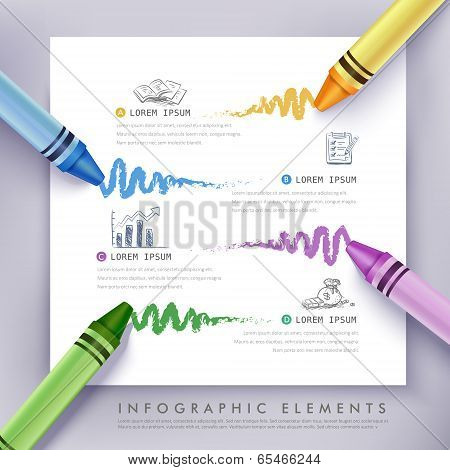 Business Education Crayon Infographics