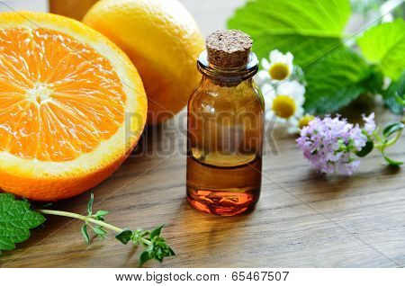 massage oil with fruits and herb