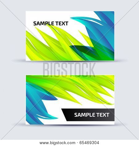 Abstract card template for business artwork, with place for you