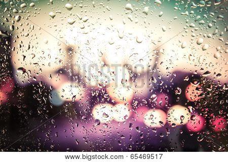 Raindrops On Glass