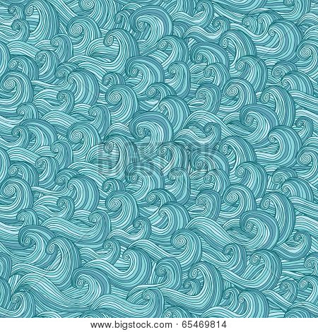 Savage Waves Seamless Pattern