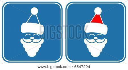 Santa - sign, symbol
