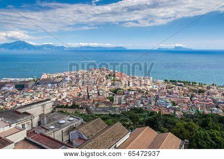 Naples Bay, Sorrento And Capri Island, Italy