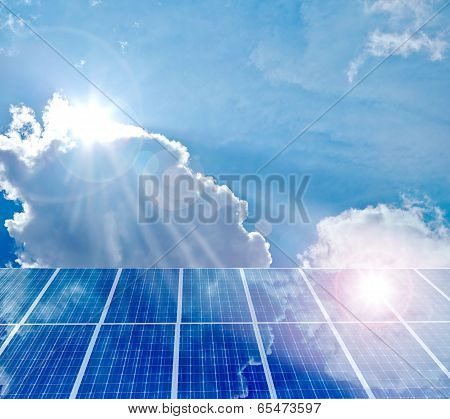 Solar Panel. Photovoltaic Energy From Sun