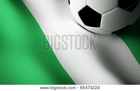Nigerian flag, football