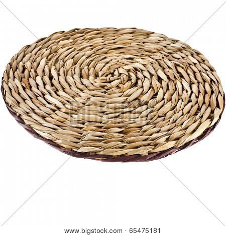 Wicker placemat with clipping path