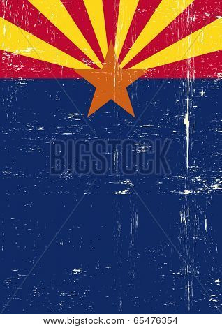Arizona poster. A grunge vertical flag of arizona for your publicity.