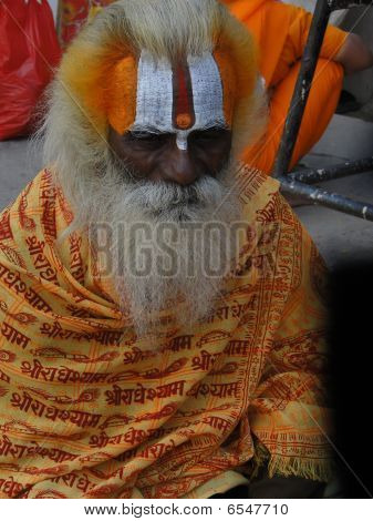 Hindu Sadhu Gives Blessings