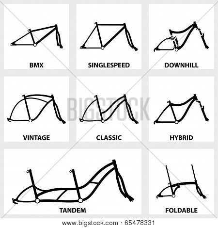 bicycle frame icon