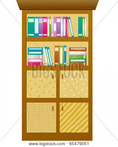 The view of bookcase is packed with books